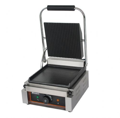 Blizzard BRSCG1 1800W Single Contact Grill Bottom Smooth